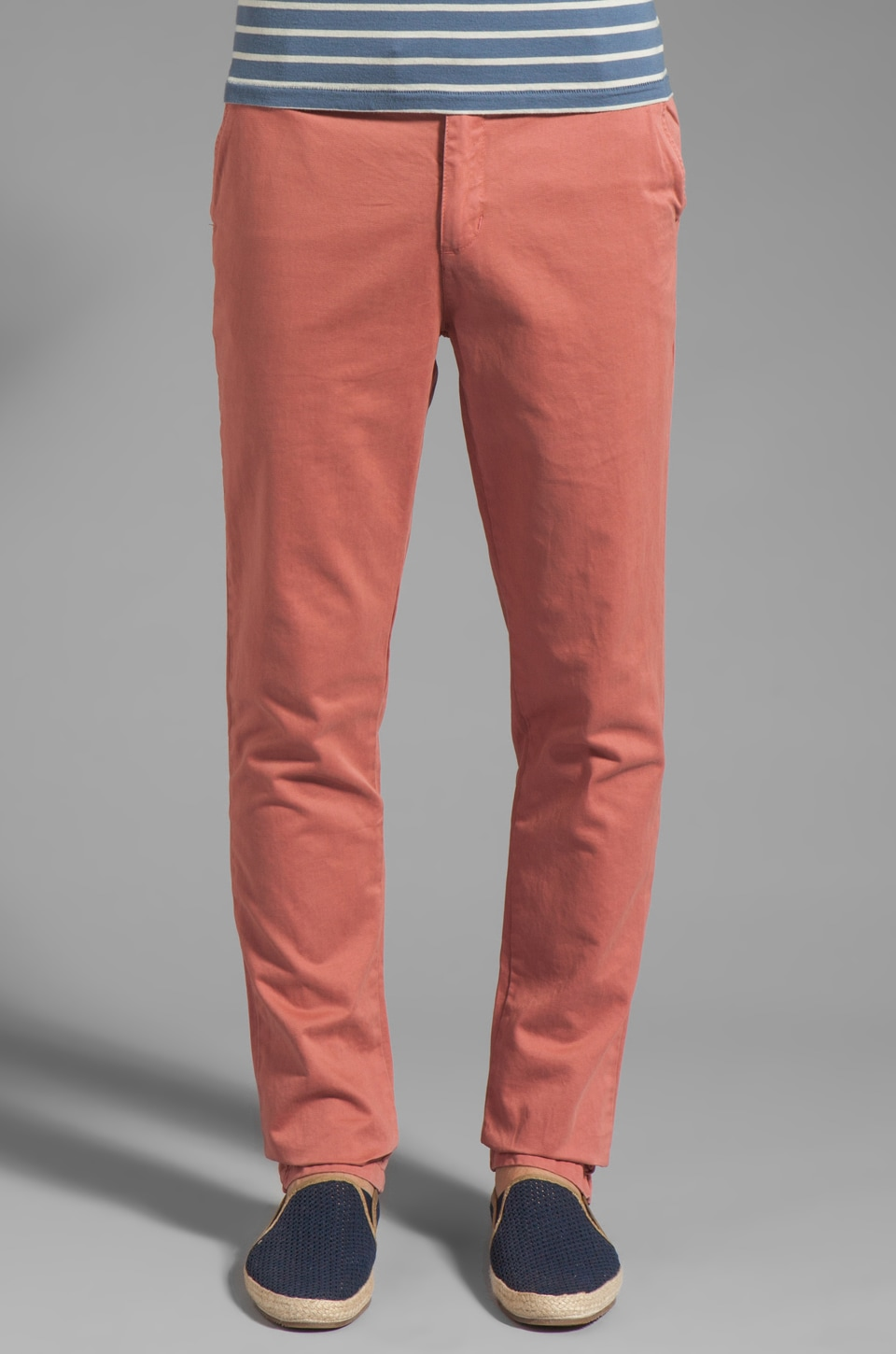 Vanishing Elephant Classic Chino In Salmon