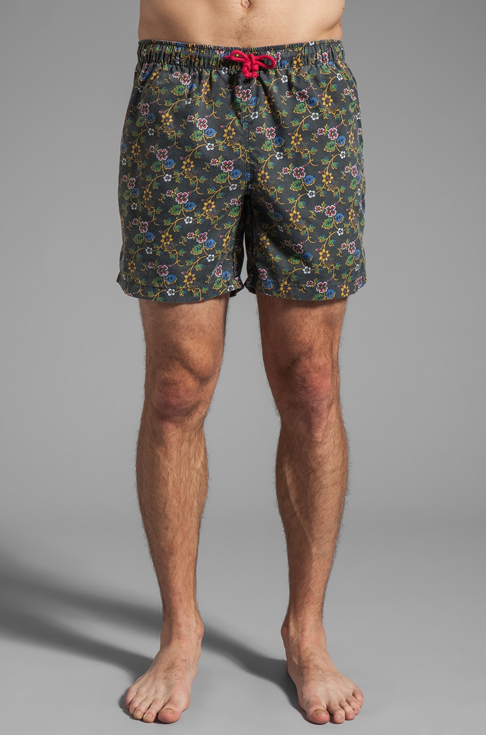 Vanishing Elephant Drawcord Boardshort in Black Floral