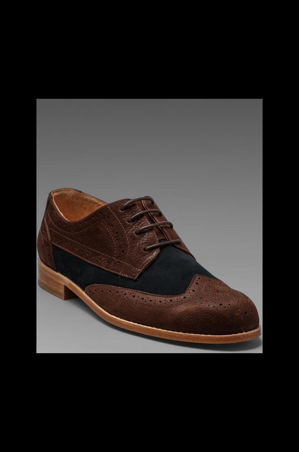 Vanishing Elephant Mort Two-Tone Brogue in Brown/Navy