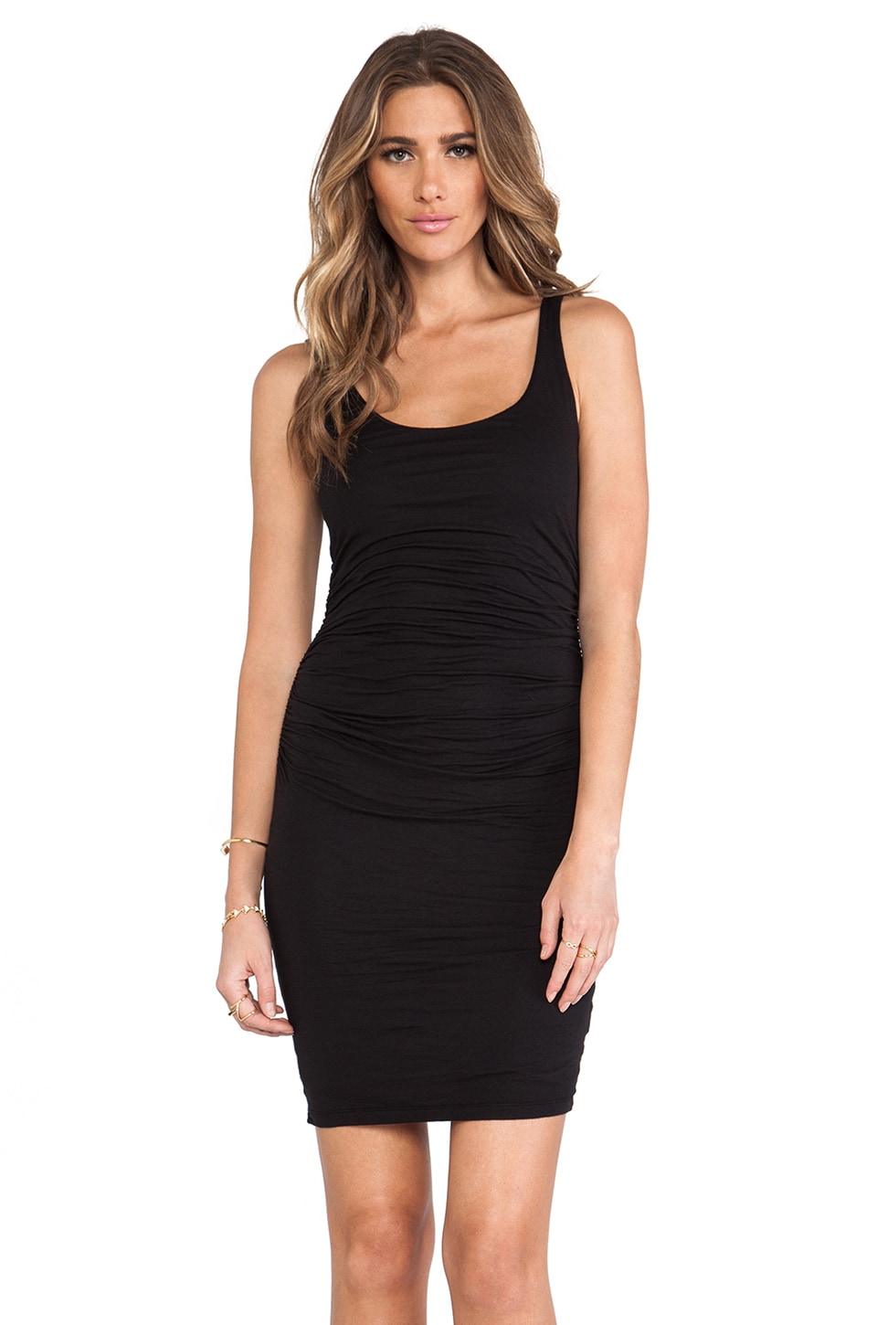 Velvet by Graham & Spencer Gauzy Whisper Melody Dress in Black