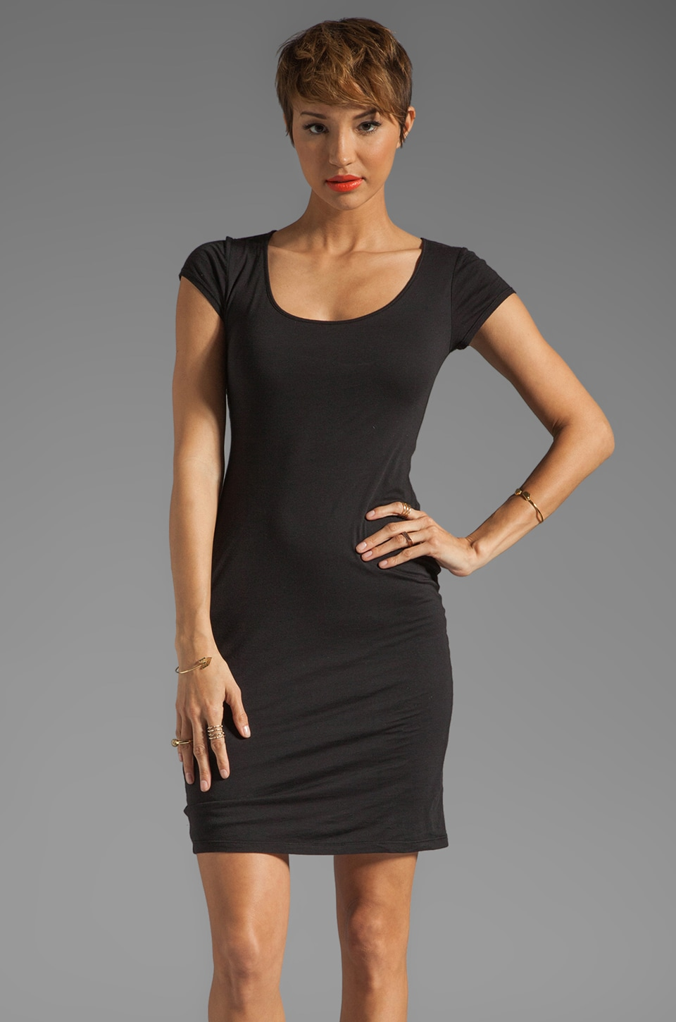 Velvet by Graham & Spencer Gauzy Whisper Classics Mabel Dress in Black