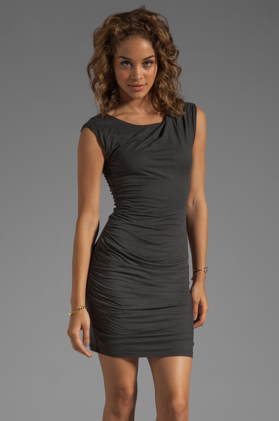 Velvet by Graham & Spencer Carew Gauzy Whisper Dress in Graphite