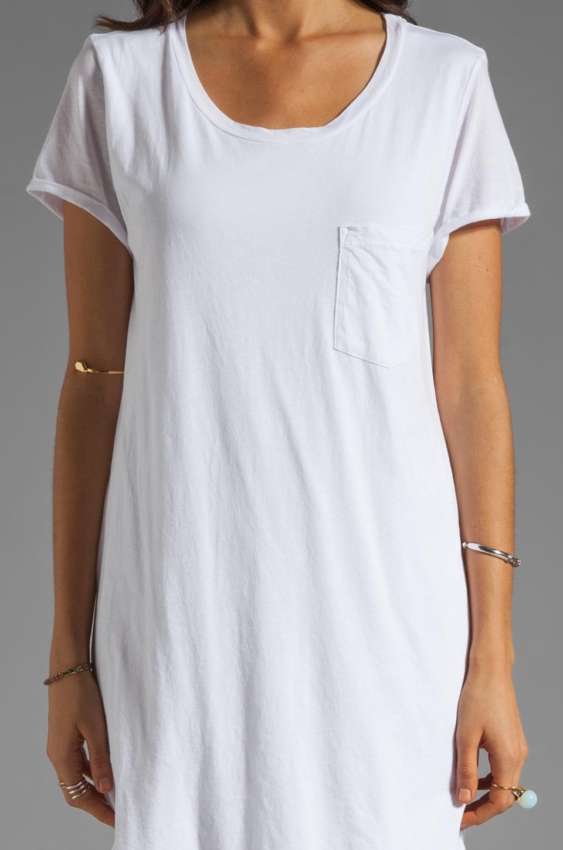 Velvet by Graham & Spencer Dasha Sheer Jersey T Shirt Dress in White
