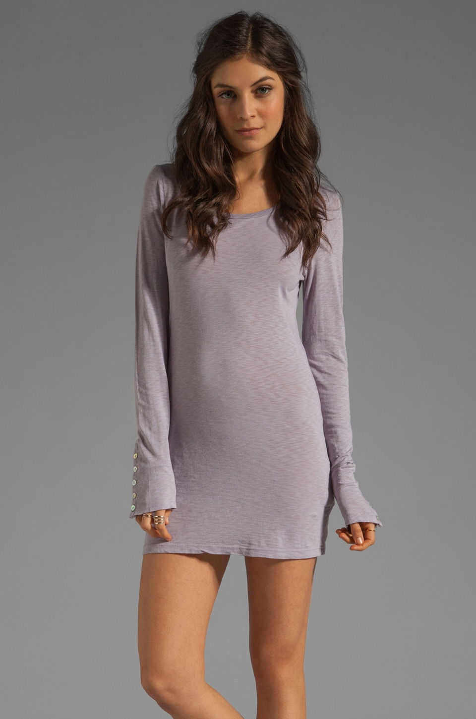 Velvet by Graham & Spencer Theana Luxe Slub Dress in Whale