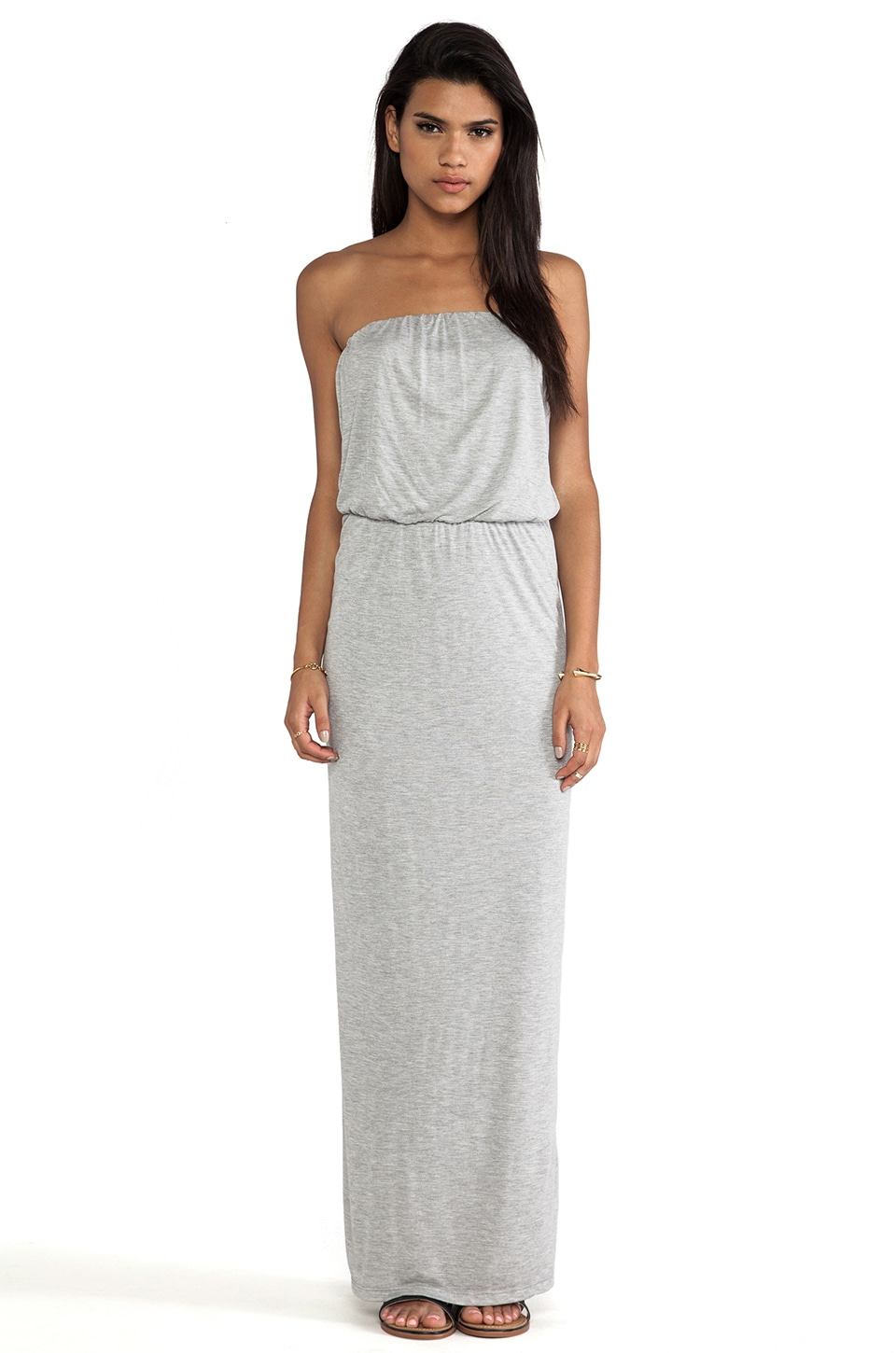 Velvet by Graham & Spencer Tammie New Fine Slinky Dress in Heather Grey