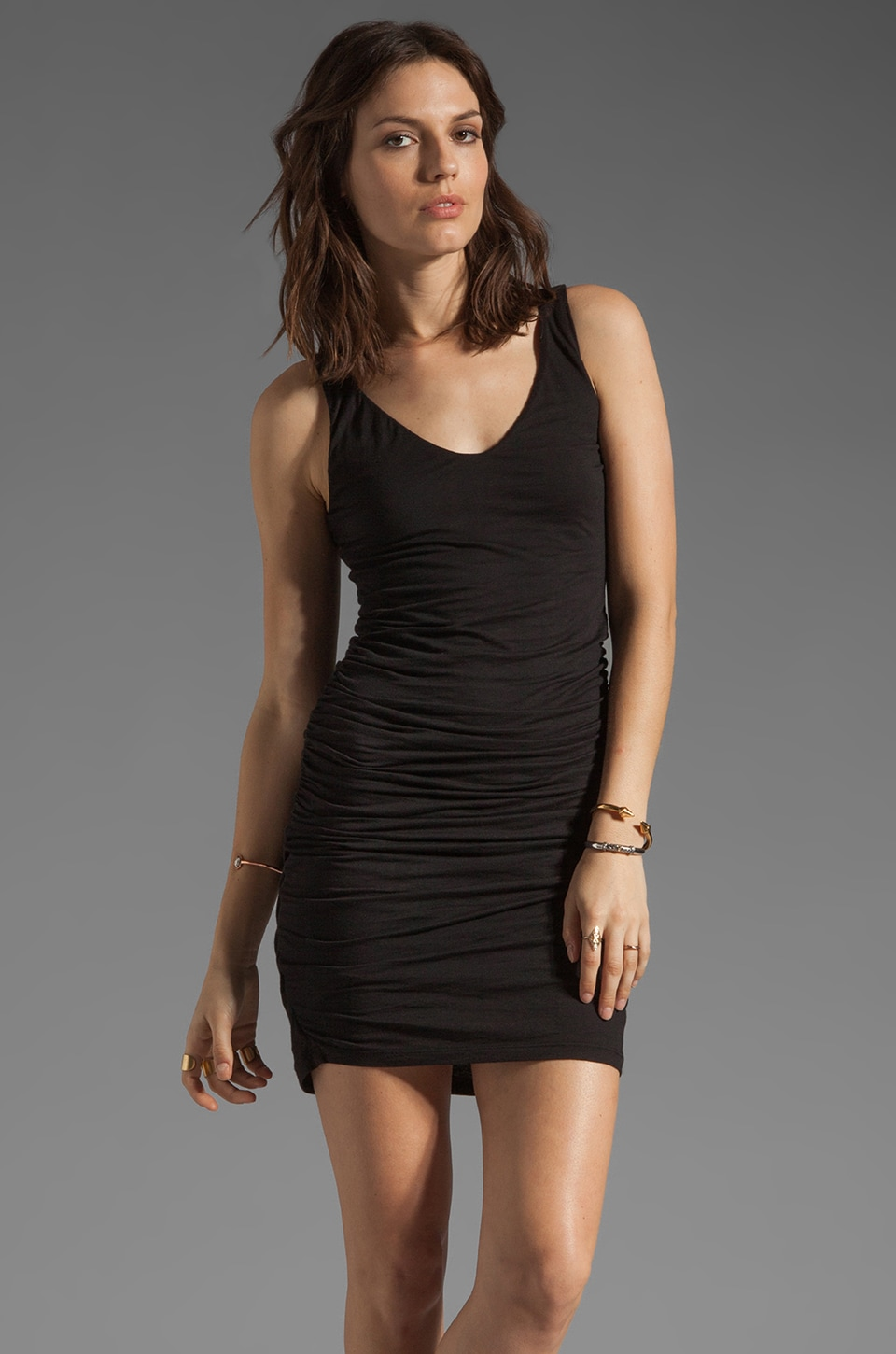 Velvet by Graham & Spencer Lana Gauzy Whisper Dress in Black
