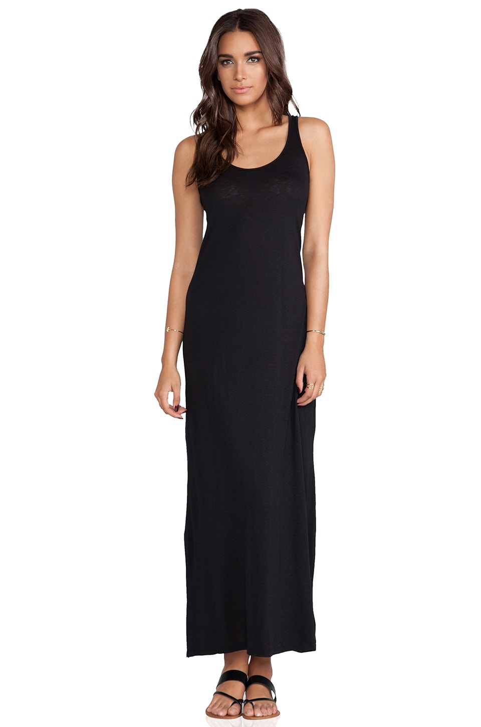 Velvet by Graham & Spencer Gypsy Luxe Slub Maxi Dress in Black