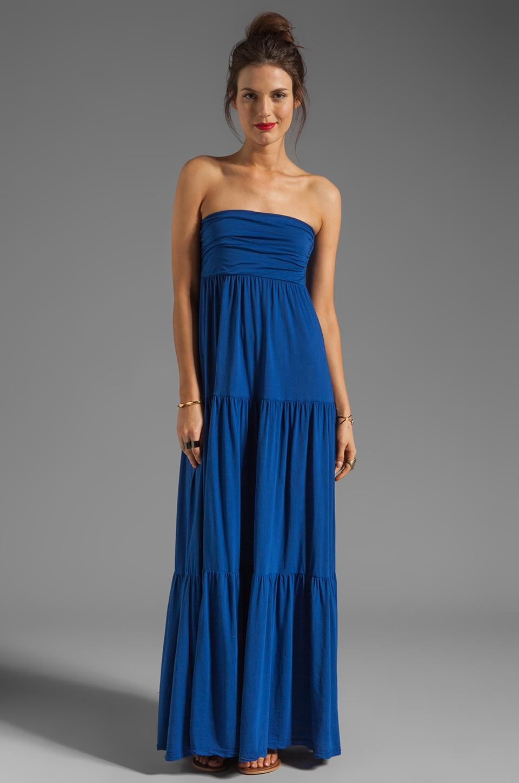 Velvet by Graham & Spencer Sheer Jersey Masha Maxi Dress in Blueberry