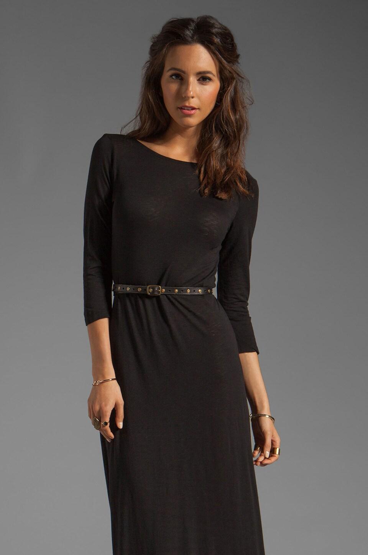 Velvet by Graham & Spencer Danilee Luxe Slub Dress in Black