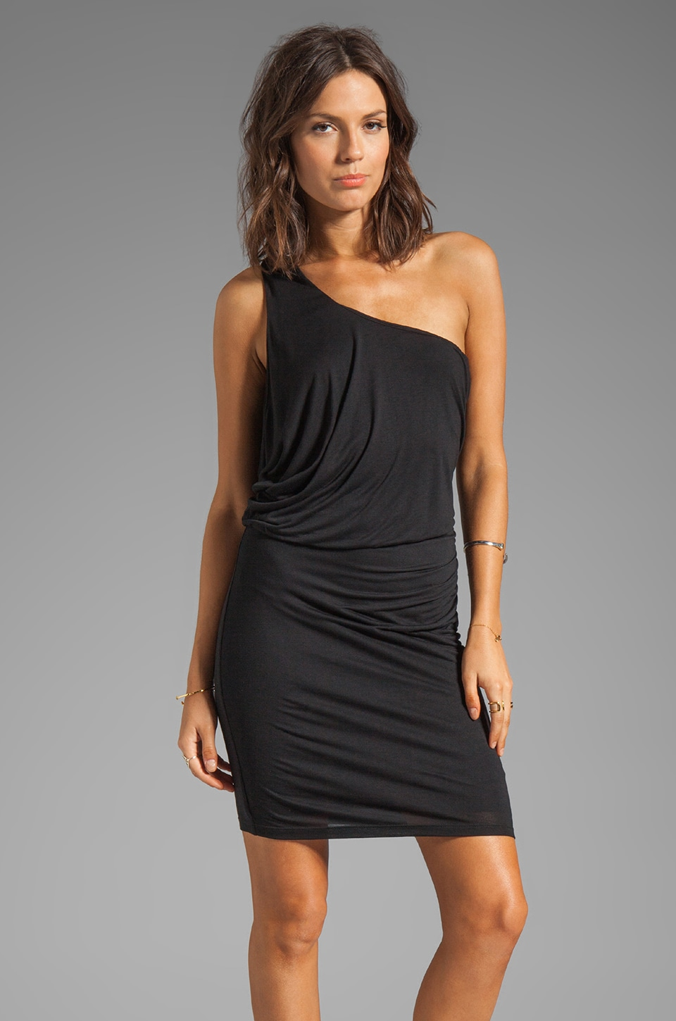 Velvet by Graham & Spencer Nadalia New Fine Slinky Dress in Black