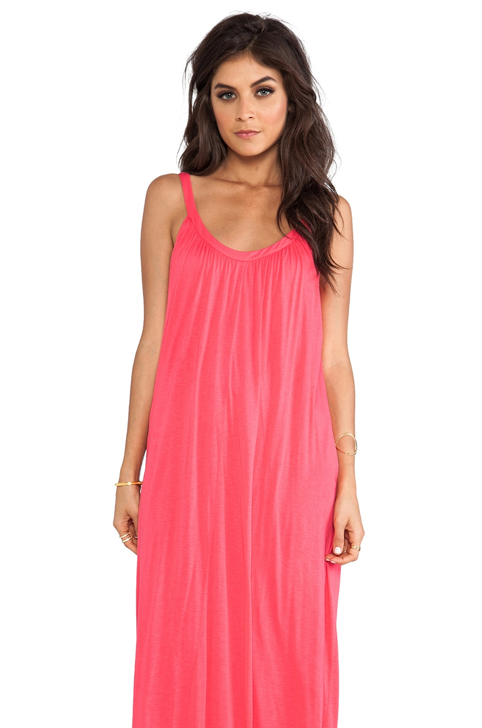 Velvet by Graham & Spencer Carmela New Fine Slinky Maxi in Peony