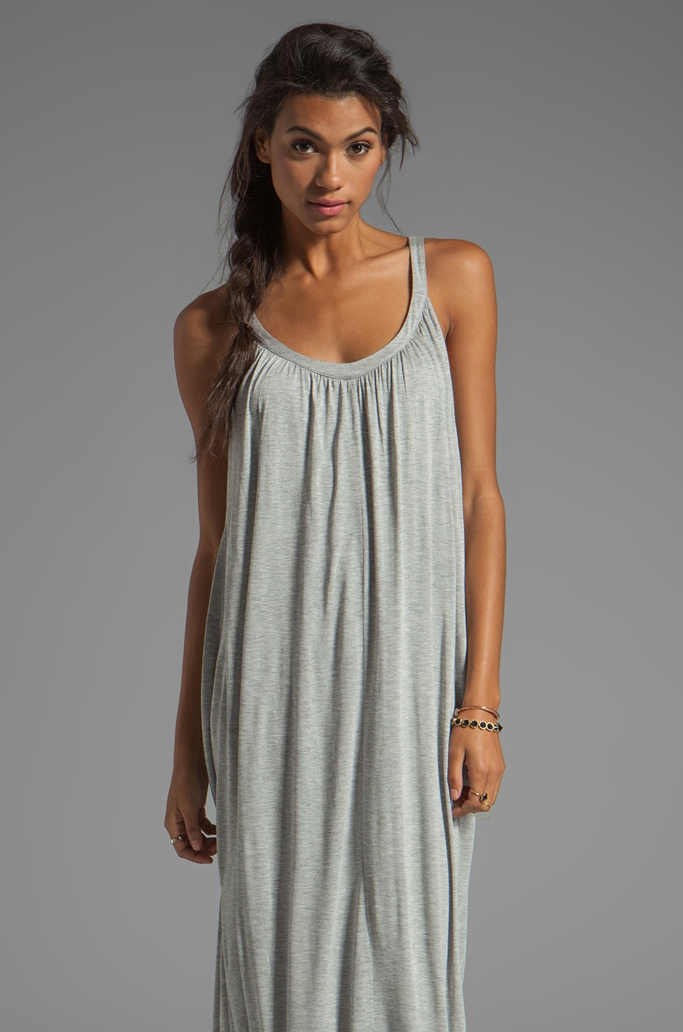 Velvet by Graham & Spencer Carmela New Fine Slinky Maxi in Heather Grey