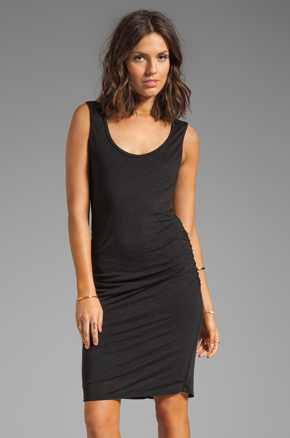 Velvet by Graham & Spencer Eliana Luxe Slub Dress in Black