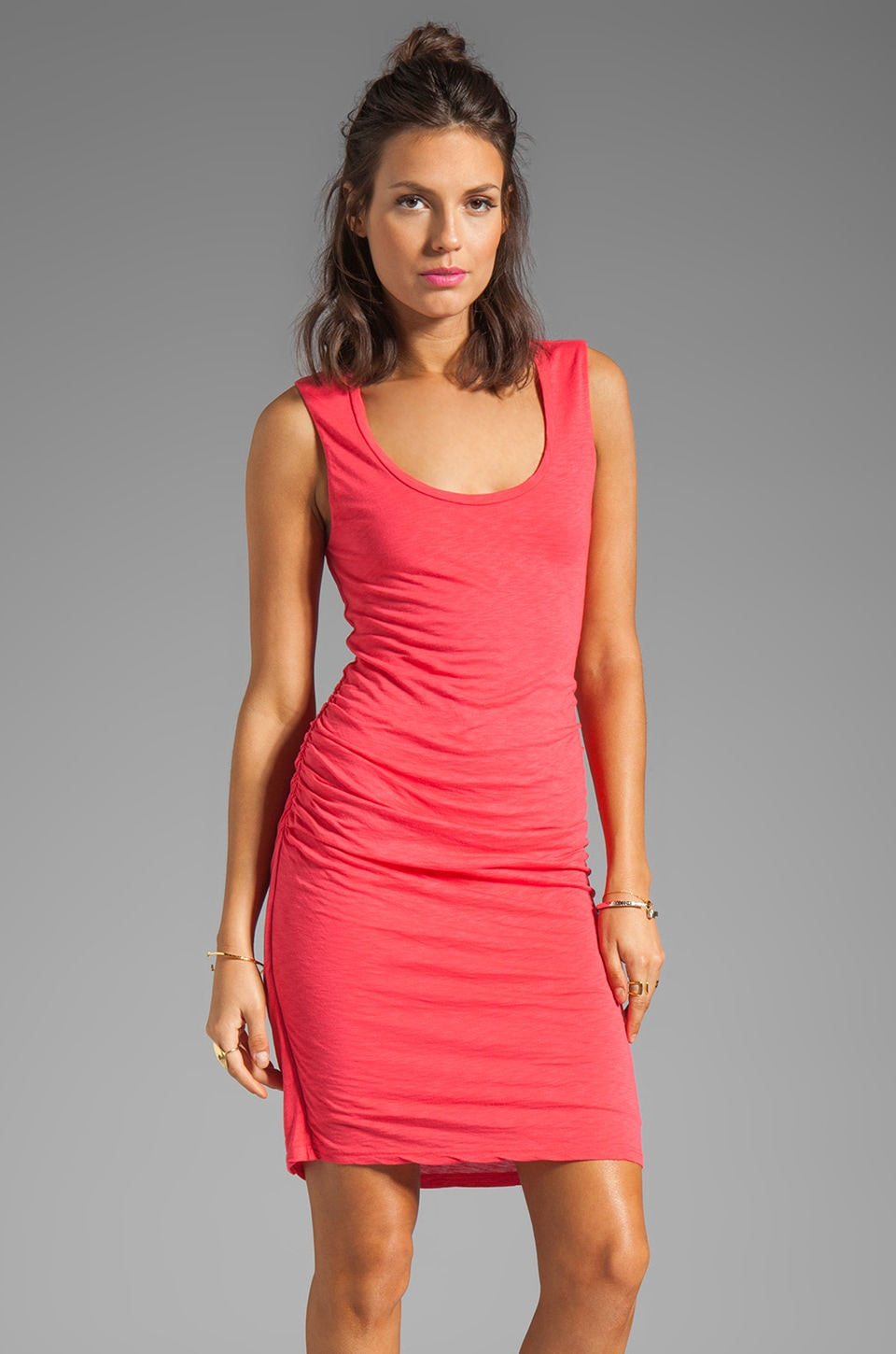 Velvet by Graham & Spencer Eliana Luxe Slub Dress in Carmine