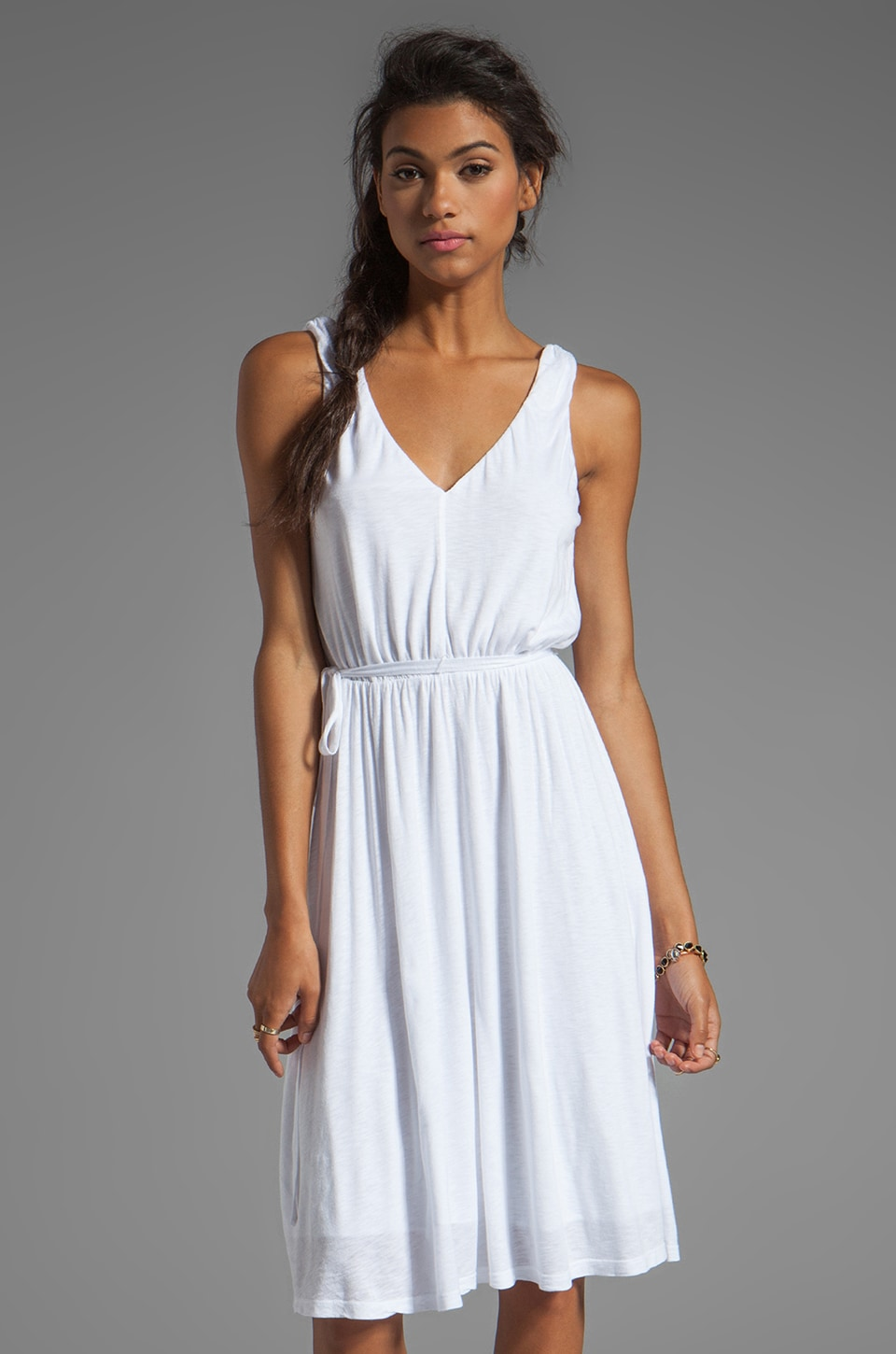 Velvet by Graham & Spencer Karlee Luxe Slub Dress in White