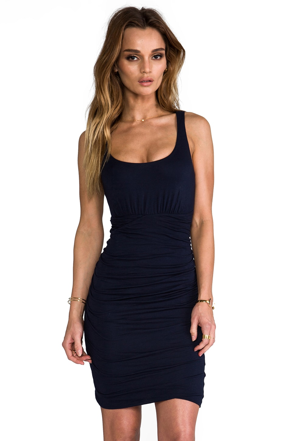 Velvet by Graham & Spencer Kalvin Gauzy Whisper Dress in Midnight
