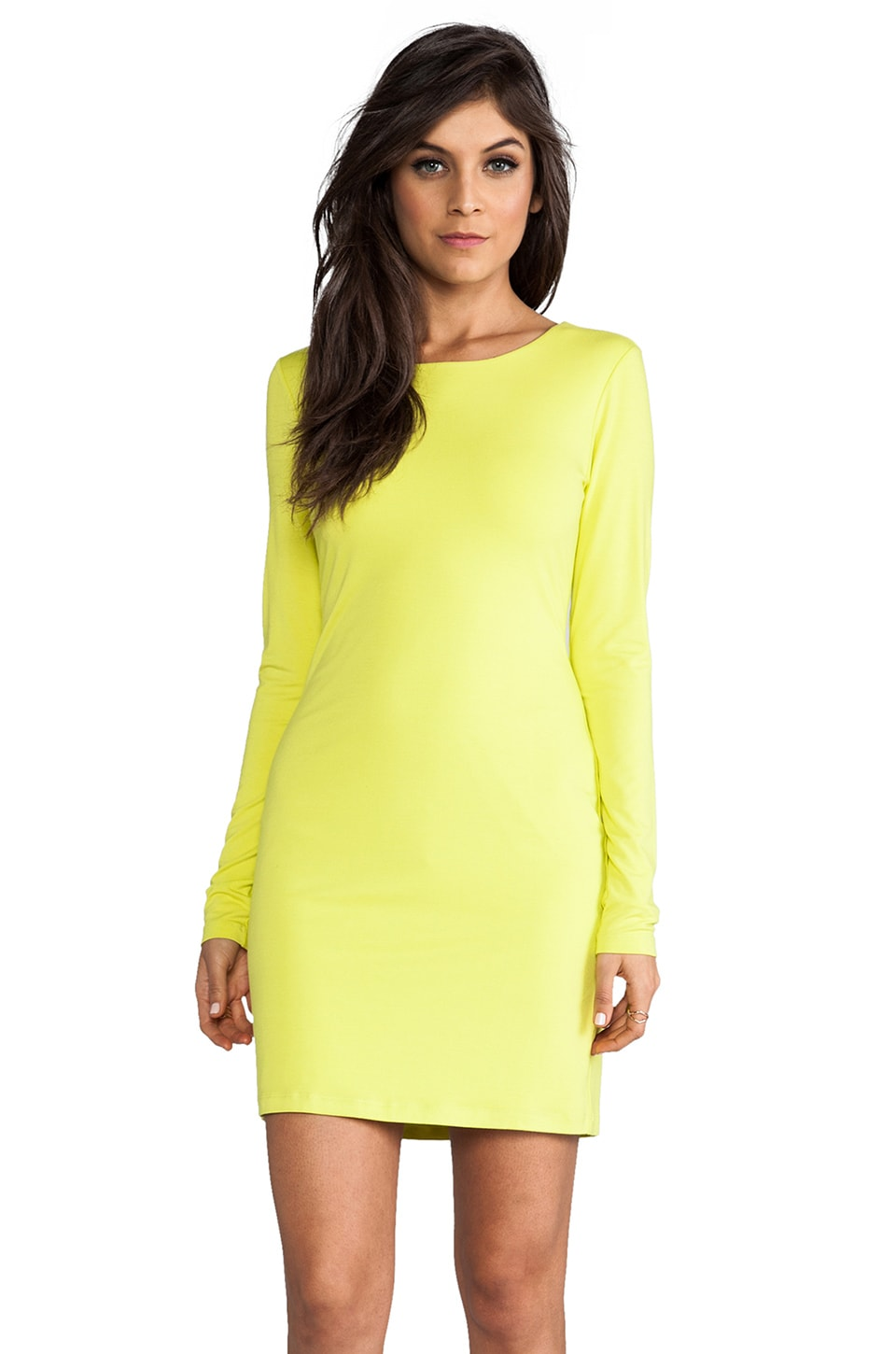 Velvet by Graham & Spencer Lily Aldridge for Velvet Beki Rayon Jersey Dress in Lime