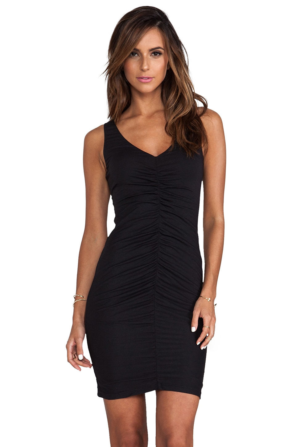 Velvet by Graham & Spencer Tivonia Gauzy Whisper Dress in Black