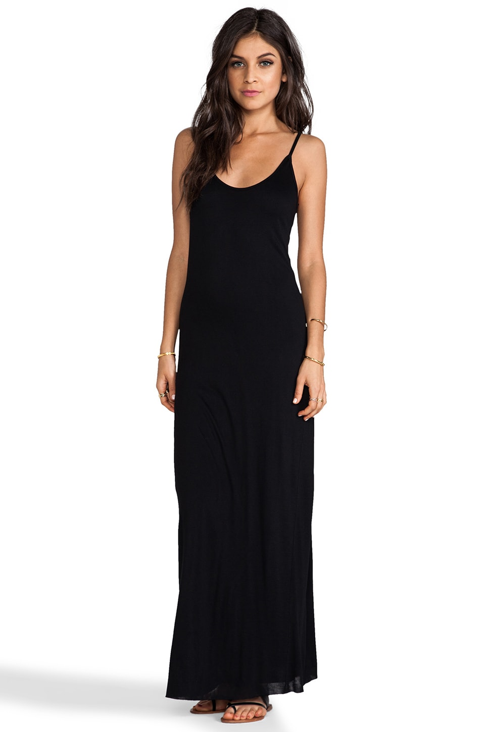 Velvet by Graham & Spencer Vixen New Fine Slinky Tank Dress in Black