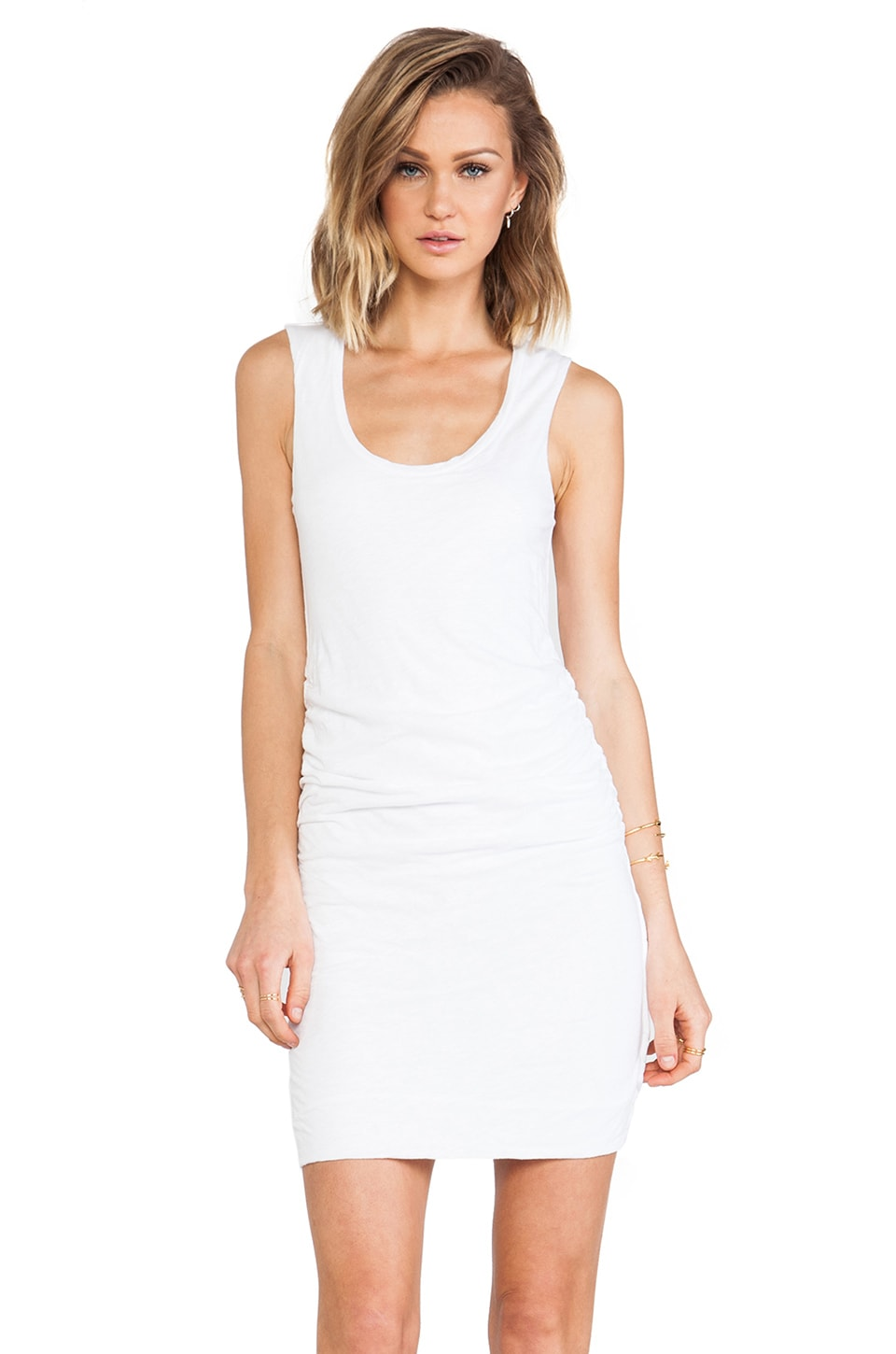 Velvet by Graham & Spencer Danette Cotton Slub Dress in White