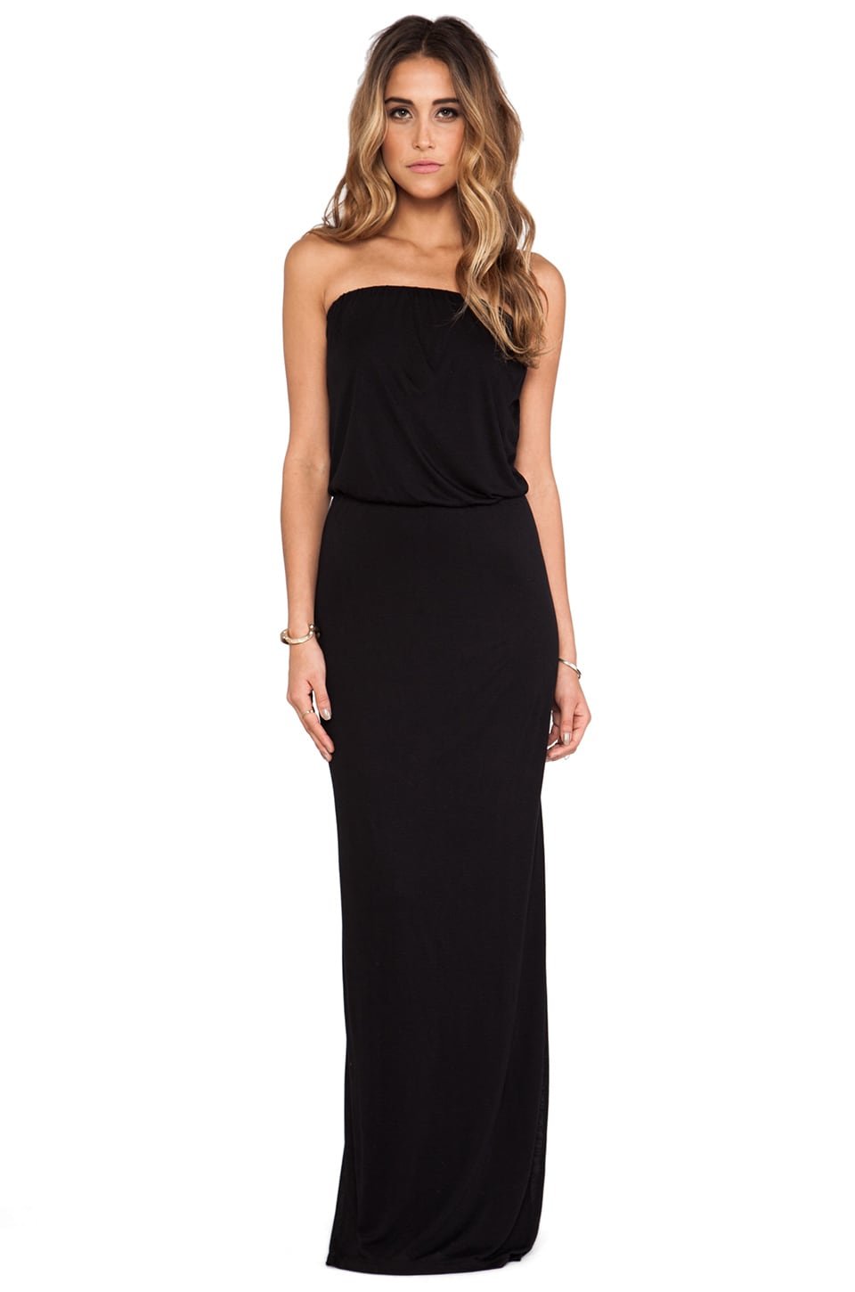 Velvet by Graham & Spencer Tammie New Fine Slinky Dress in Black
