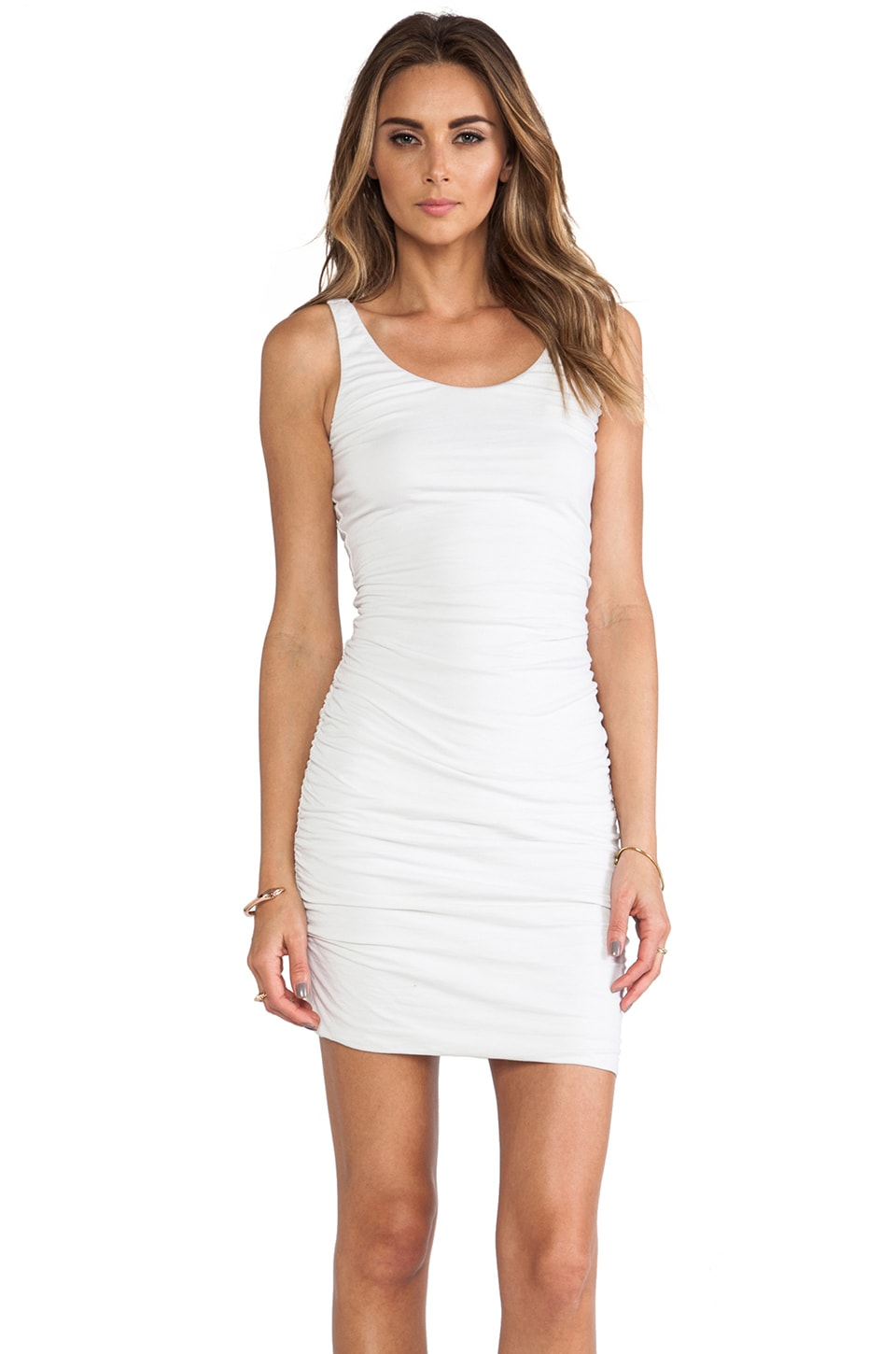 Velvet by Graham & Spencer Tai Gauzy Whisper Dress in White
