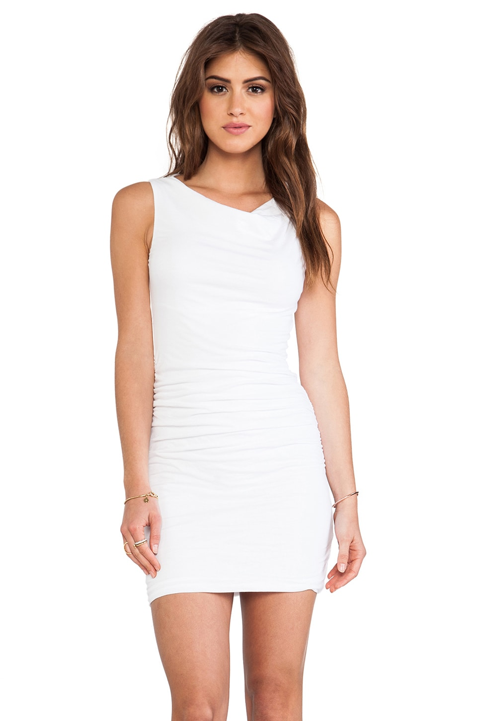 Velvet by Graham & Spencer Gauzy Ethel Whisper Novelty Dress in White