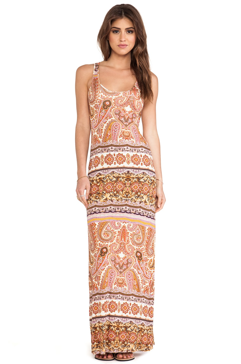 Velvet by Graham & Spencer Fia Taj Print Maxi in Saharan