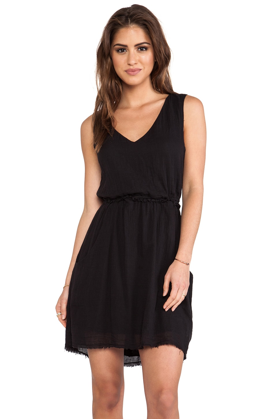 Velvet by Graham & Spencer Teagan Sheer Jersey Dress in Black