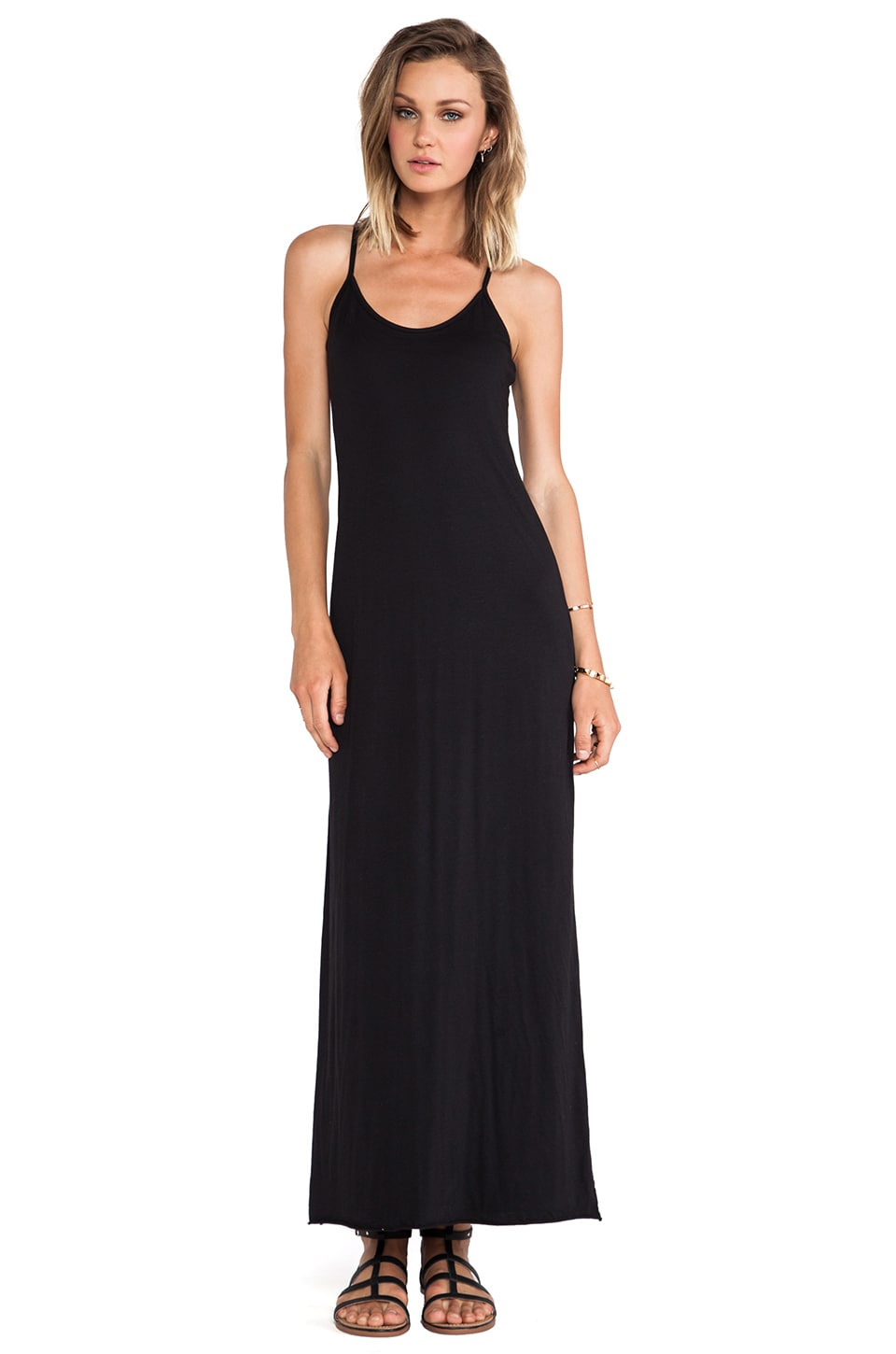 Velvet by Graham & Spencer Nima Gauzy Whisper Dress in Black