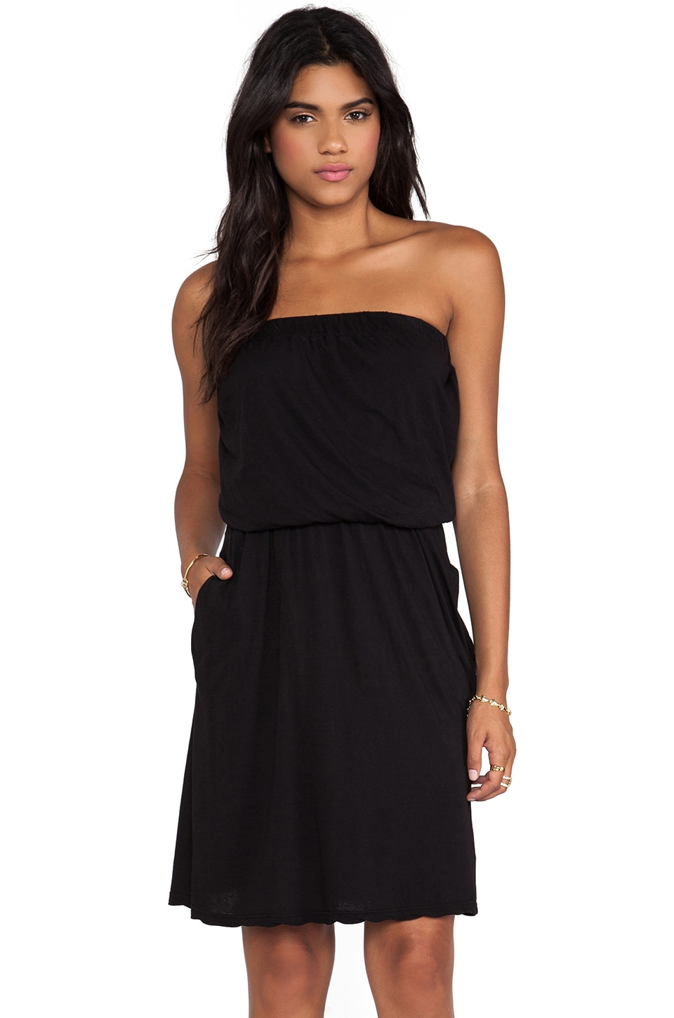 Velvet by Graham & Spencer Svetlana Sheer Jersey Dress in Black