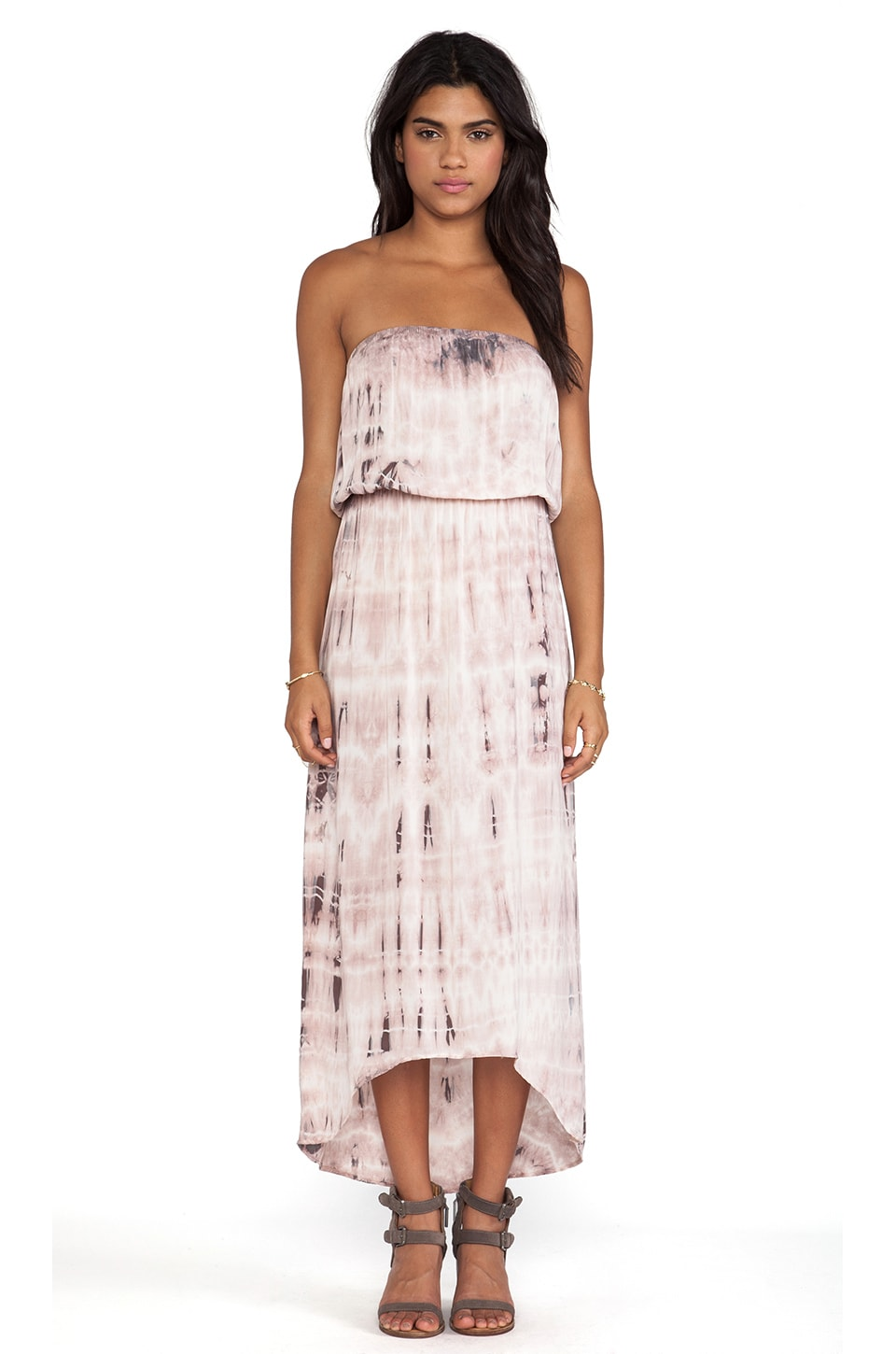 Velvet by Graham & Spencer Tippie Tie Dye Rayon Voile Dress in Grecian