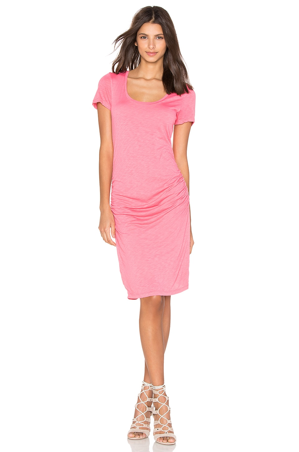 Velvet by Graham & Spencer Dina T Shirt Dress in Flamingo