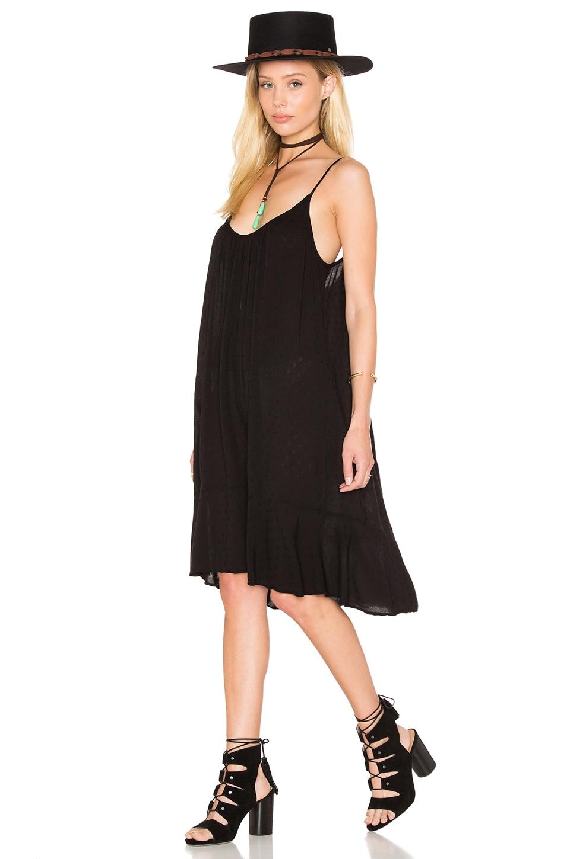 Velvet by Graham & Spencer Kourtney Dobby Challis Shift Dress in Black