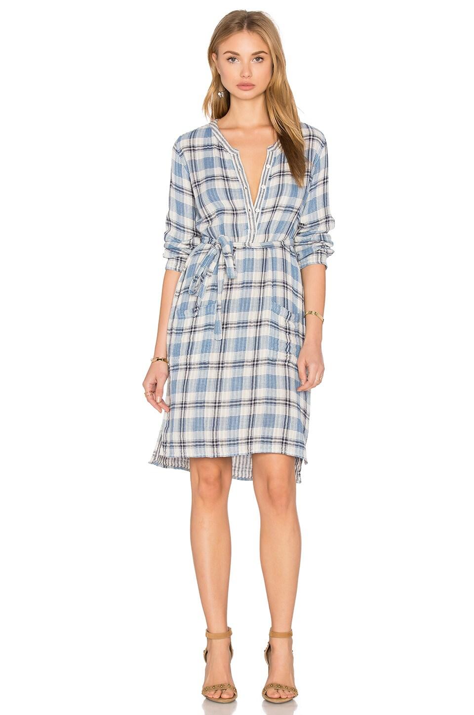 Velvet by Graham & Spencer Nixie Long Sleeve Mini Dress in Blue