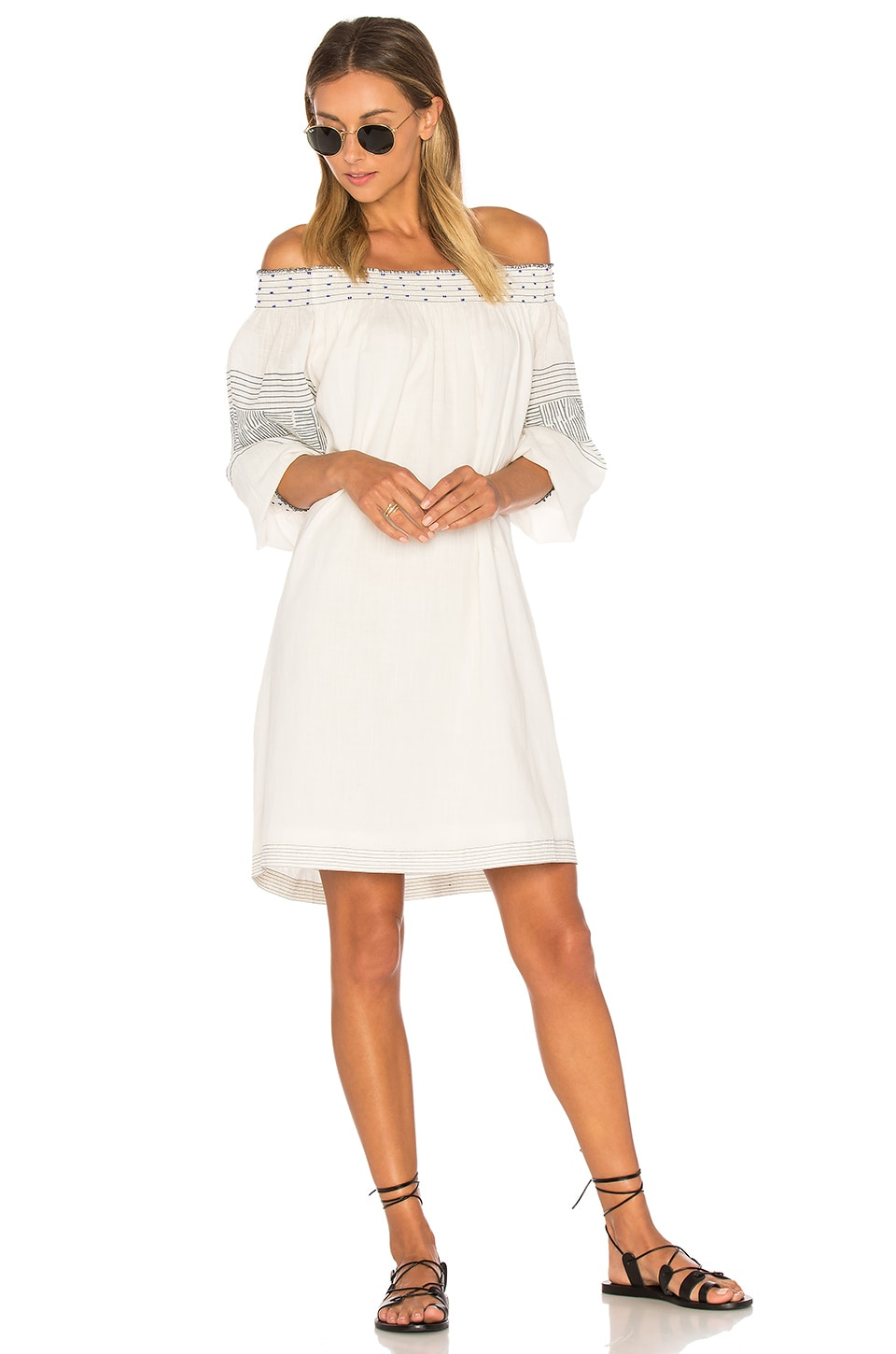 Velvet by Graham & Spencer Deandria Off Shoulder Dress in Cream