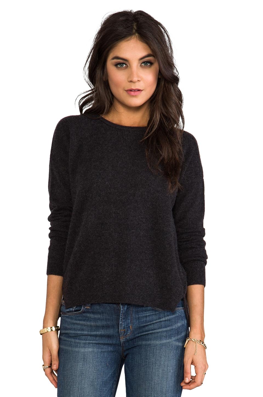 Velvet by Graham & Spencer Velvet Almira Cashmere Sweater in Charcoal