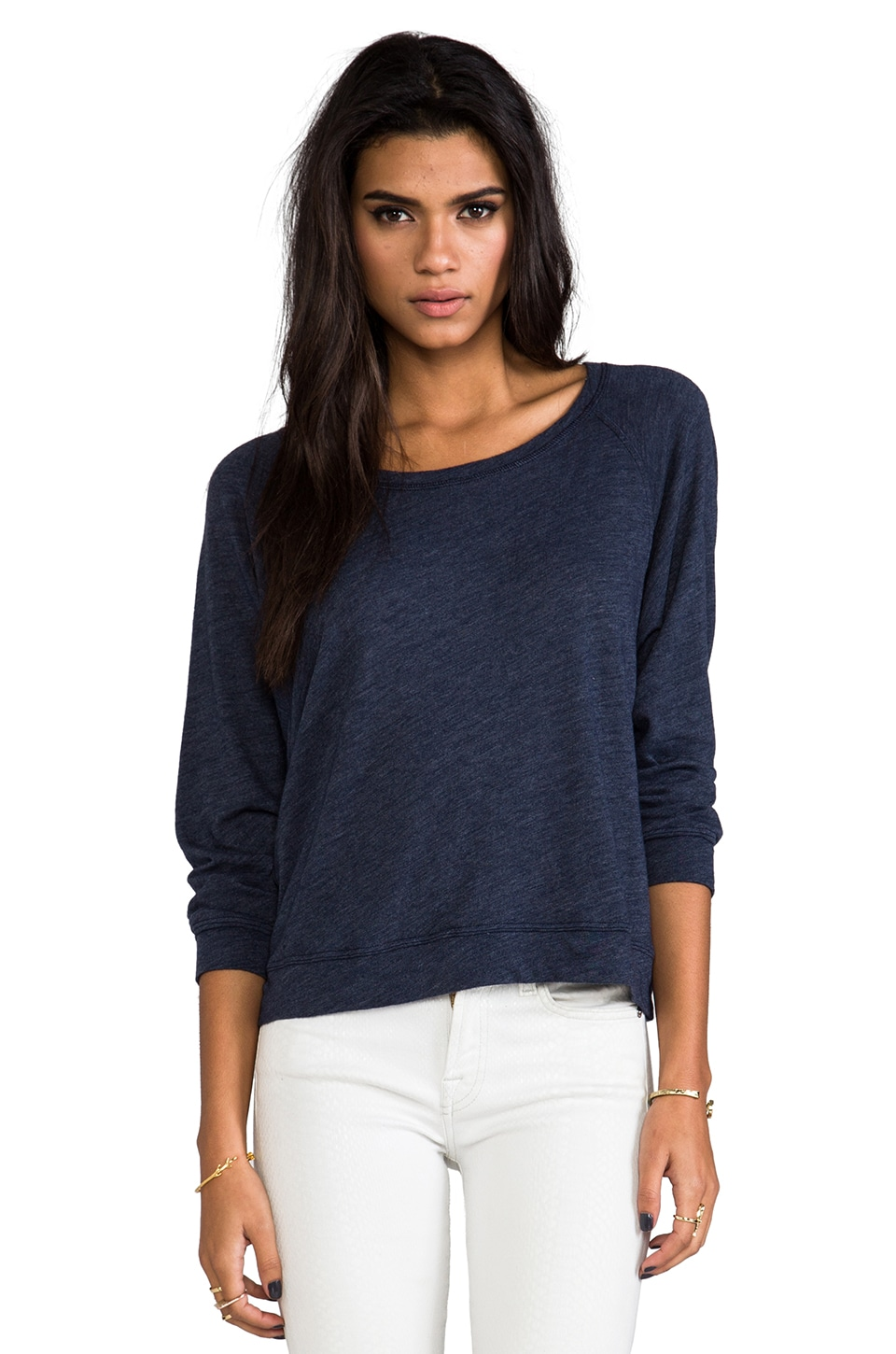 Velvet by Graham & Spencer Velvet Cozy Heather Matylda Pullover in Nino