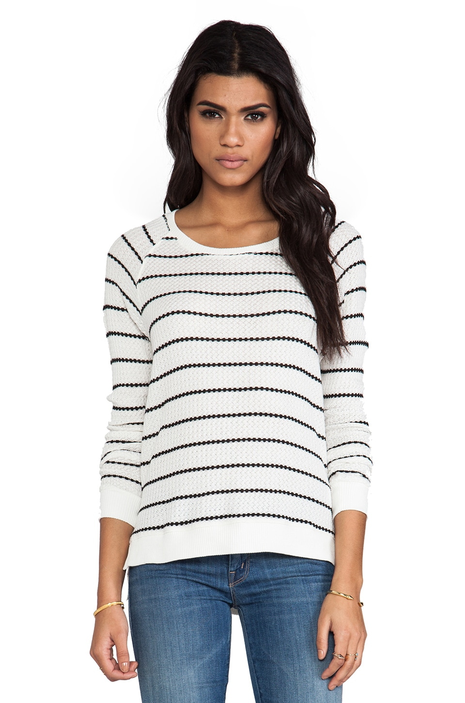 Velvet by Graham & Spencer Velvet Stripe Becky Thermal in Cream