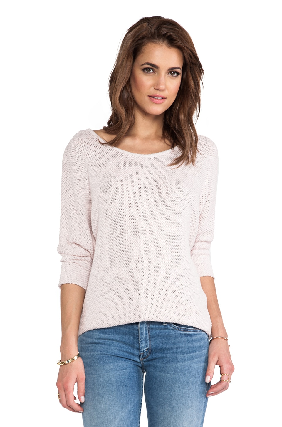 Velvet by Graham & Spencer Talora Cotton Crochet Sweater in Ribbon