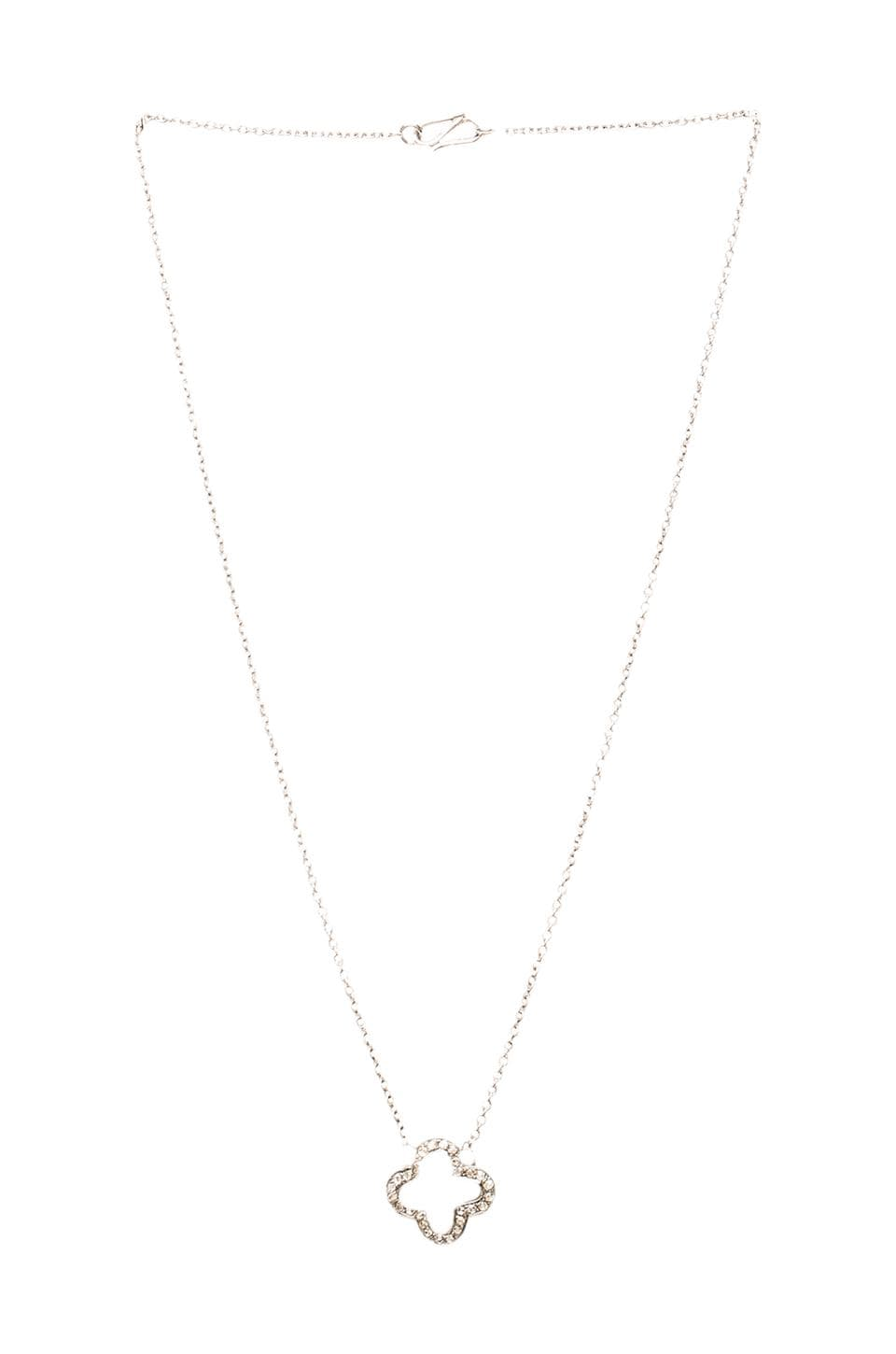 Velvet by Graham & Spencer Velvet x Renee Sheppard Clover Necklace in Silver