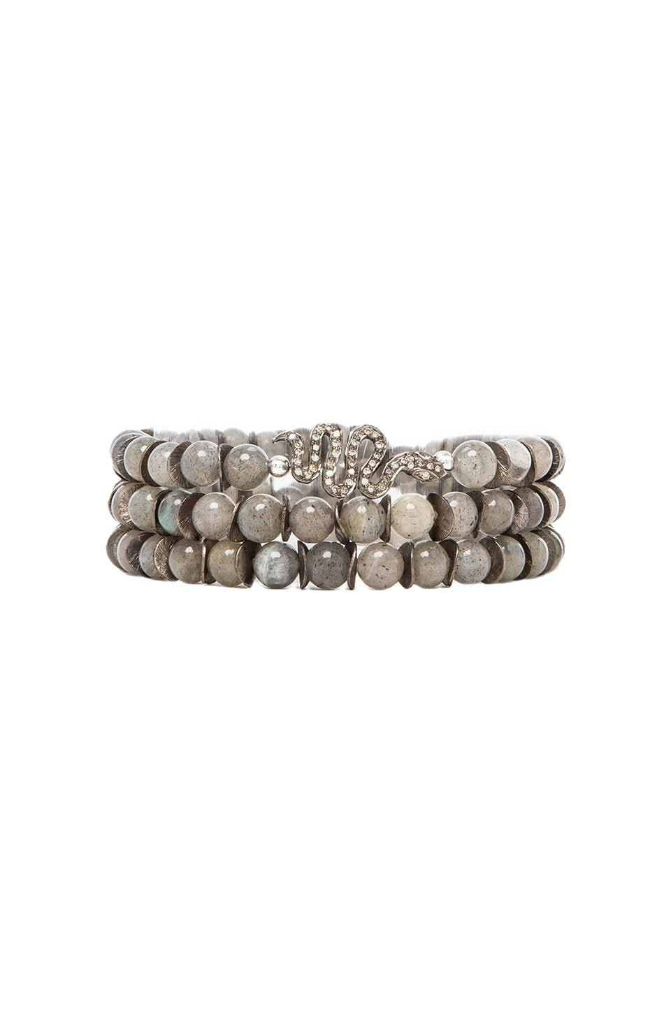 Velvet by Graham & Spencer Velvet x Renee Sheppard Serpent Bracelet in Grey