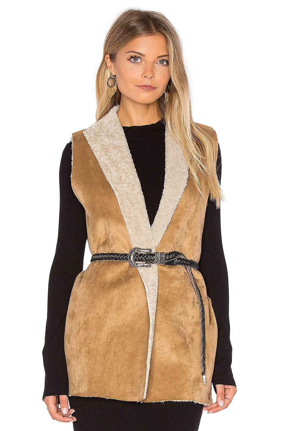 Royce Vest with Faux Fur Lining by Velvet by Graham & Spencer