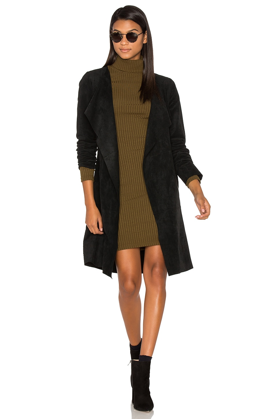 Aubrey Suede Wrap Jacket by Velvet By Graham & Spencer