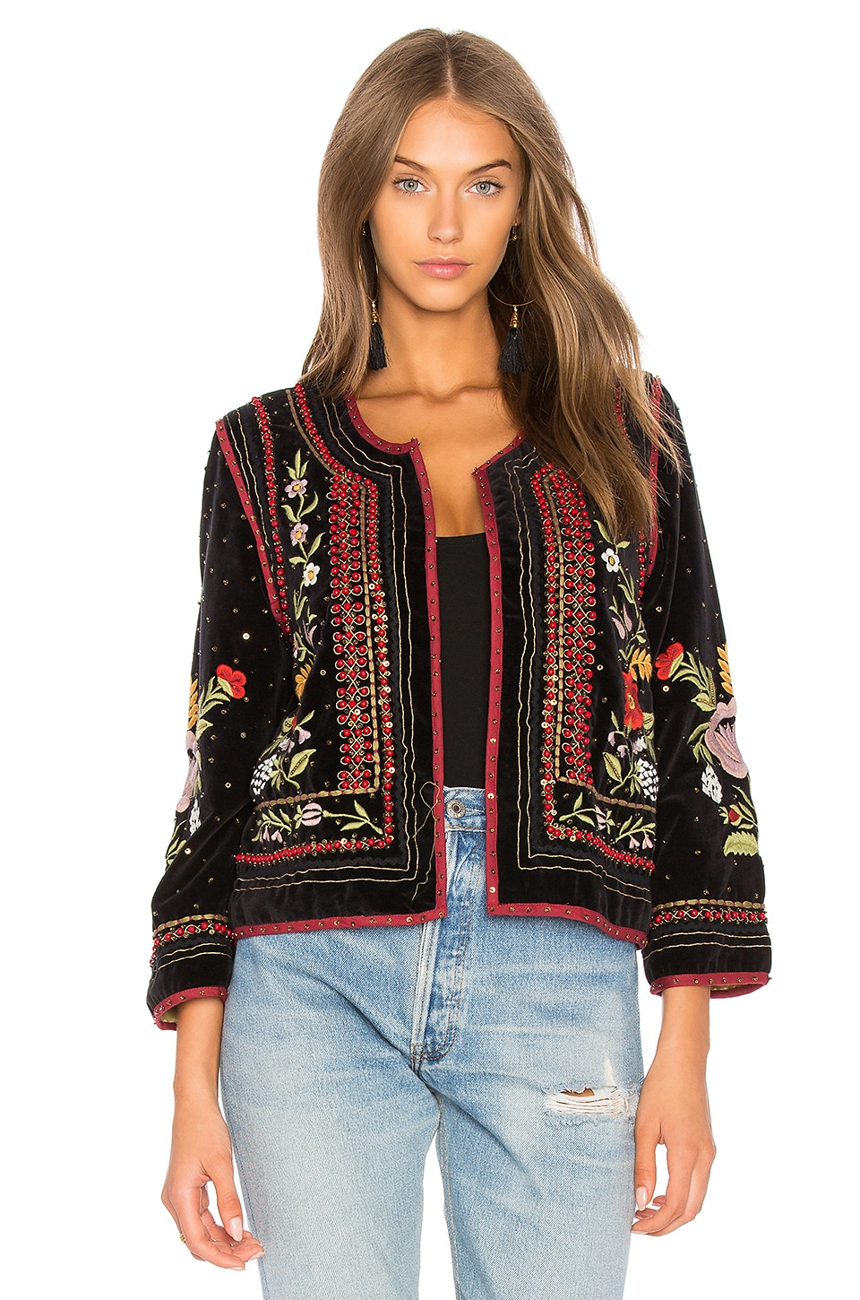 Velvet by Graham & Spencer Adara Velvet Jacket in Multi