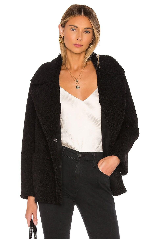 Velvet by Graham & Spencer Yoko Sherpa Coat in Black