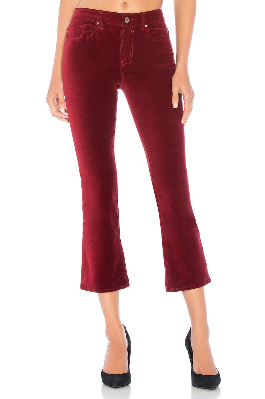 Adriana Velveteen High Rise Crop Pant