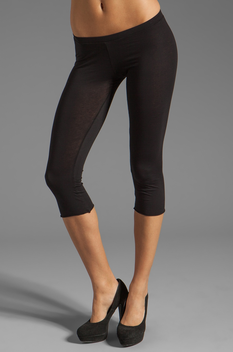 Velvet by Graham & Spencer Ritzy Gauzy Whisper Legging in Black