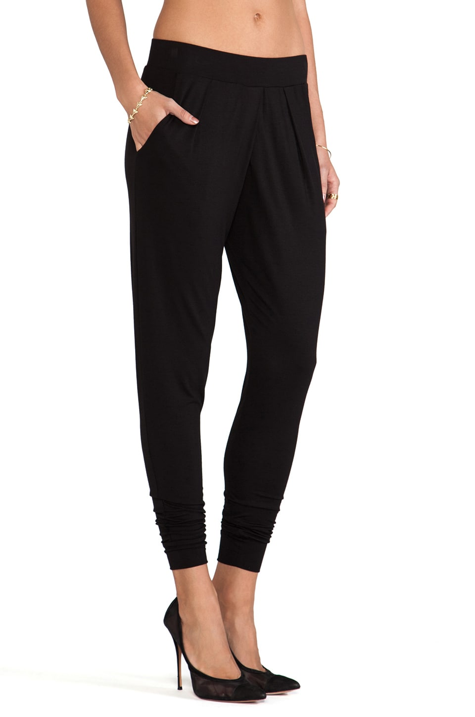 Velvet by Graham & Spencer Slinky Rayon Landa Pants in Black