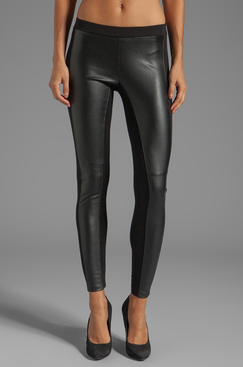 Velvet by Graham & Spencer Leggings Odette en maille interlock en Noir